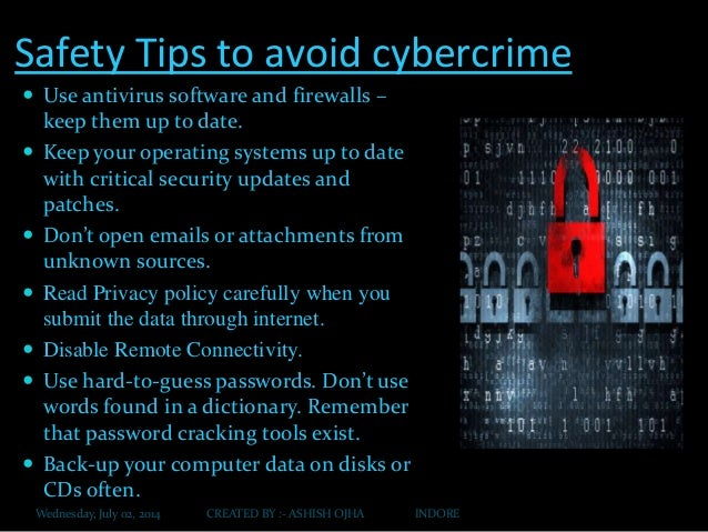 It Presentation Cyber Crime