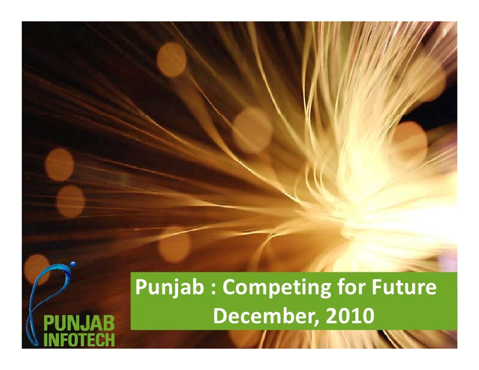 Punjab:CompetingforFutureSlide No 1                    December,2010                   Punjab: Competing for Future