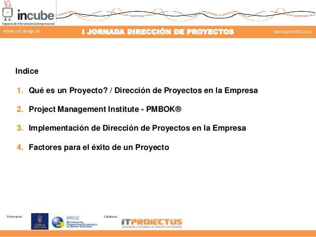 Gestión de proyectos según el enfoque PMI-PMBOK Slide 2