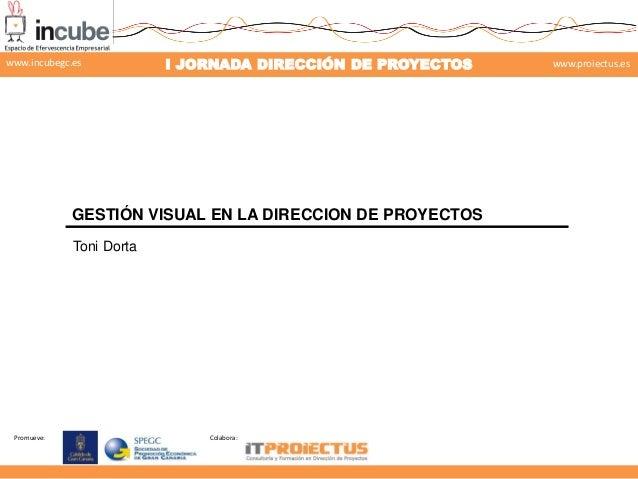 www.incubegc.es  I JORNADA DIRECCIÓN DE PROYECTOS  www.proiectus.es  29 de noviembre 2013  GESTIÓN VISUAL EN LA DIRECCION ...