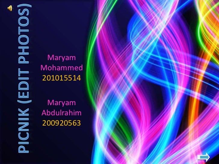 MaryamMohammed201015514 MaryamAbdulrahim200920563
