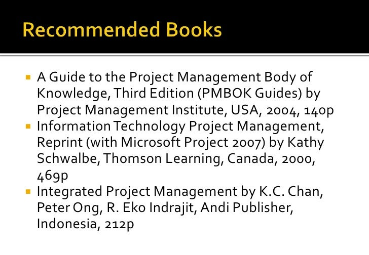 Information technology project management 64 a guide to the project management body of knowledge third edition fandeluxe Choice Image