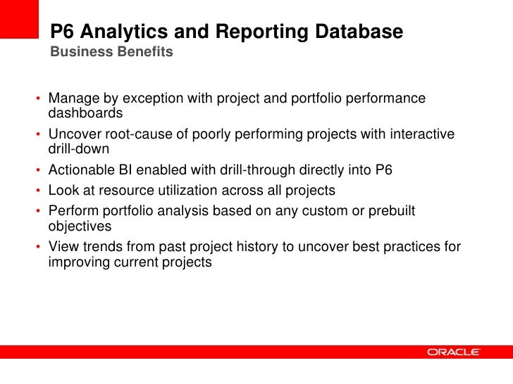 project performance reporting for oracle projects Oracle project management project integration key performance indicators reporting can work with a project in both oracle projects and microsoft.