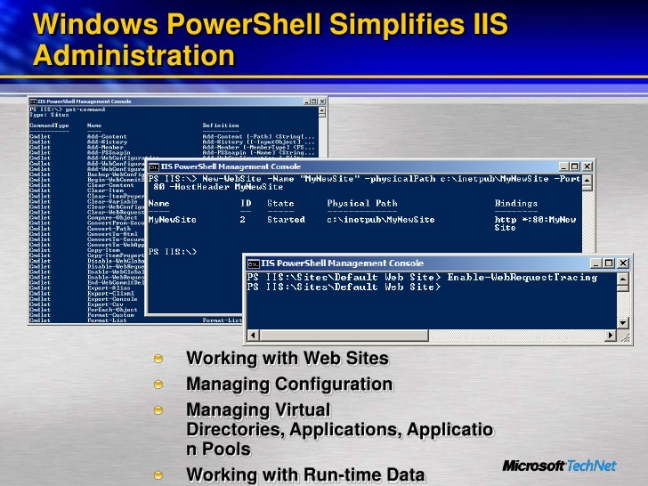 Managing Web Infrastructure Systems With Windows Power Shell
