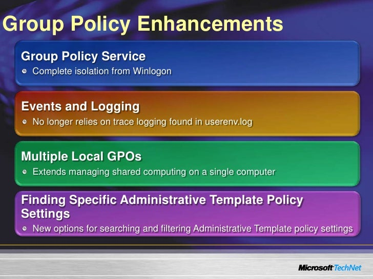 group policy enhancements