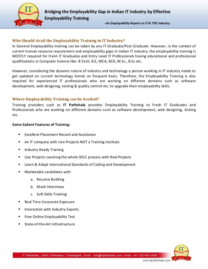 Employability Gap In Indian IT Industry – Employability Skills Worksheets