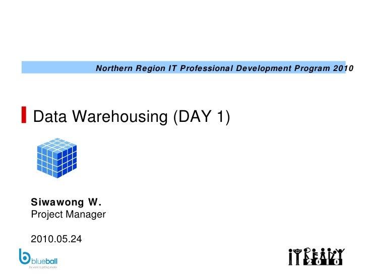 Data Warehousing (DAY 1) Siwawong W. Project Manager 2010.05.24