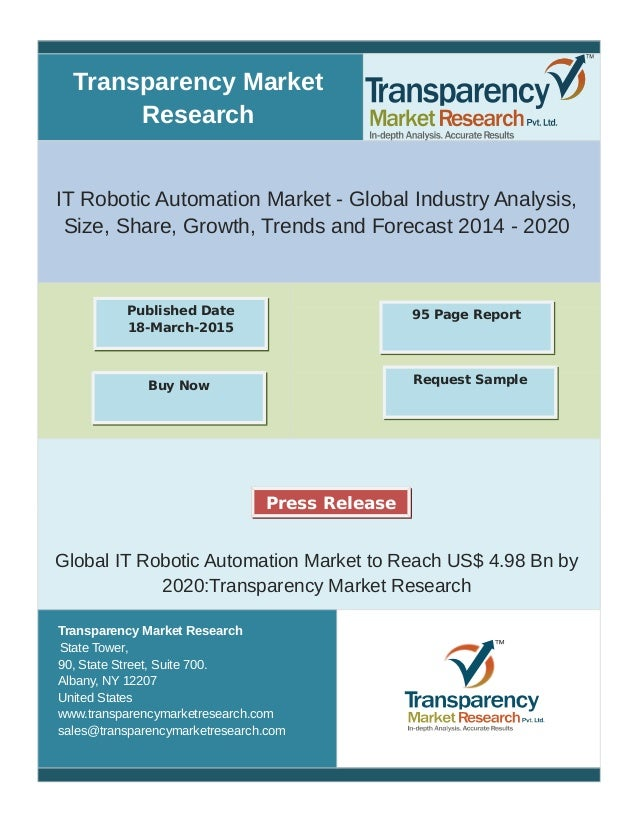 Transparency Market Research IT Robotic Automation Market - Global Industry Analysis, Size, Share, Growth, Trends and Fore...
