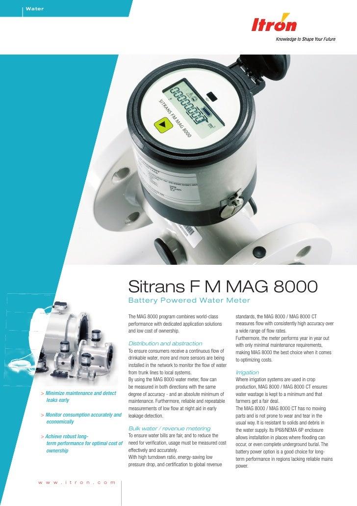 Water                                                  Sitrans F M MAG 8000                                              B...