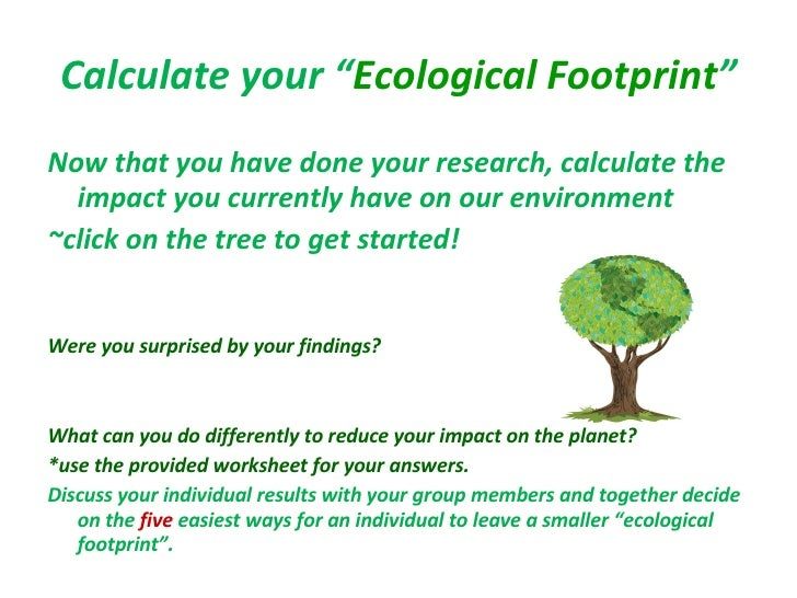 ItS Easy Being Green WebQuest – Ecological Footprint Worksheet