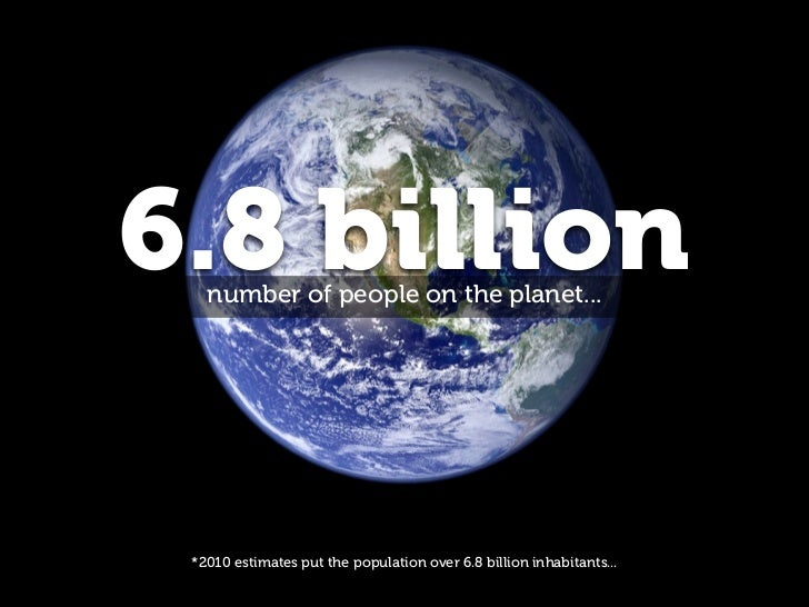 6.8 billion   number of people on the planet... *2010 estimates put the population over 6.8 billion inhabitants...