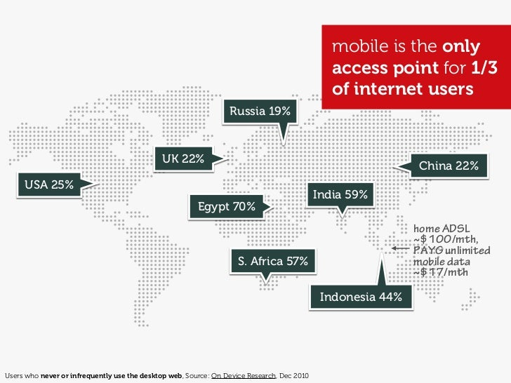 """            With current growth rates, Web access by people               on the move — via laptops and smart mobile devi..."
