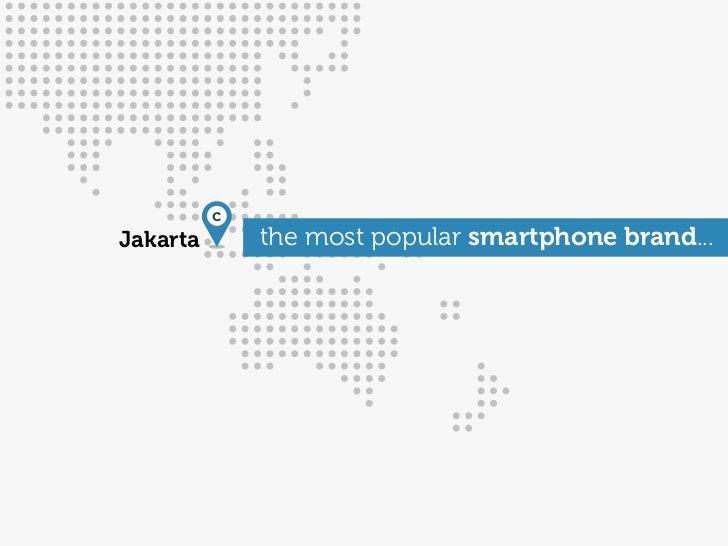 cJakarta       the most popular smartphone brand...