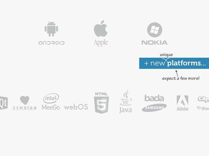 unique+ new platforms...     expect a few more!