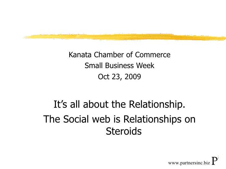 <ul><li>Kanata Chamber of Commerce </li></ul><ul><li>Small Business Week </li></ul><ul><li>Oct 23, 2009 </li></ul><ul><li>...