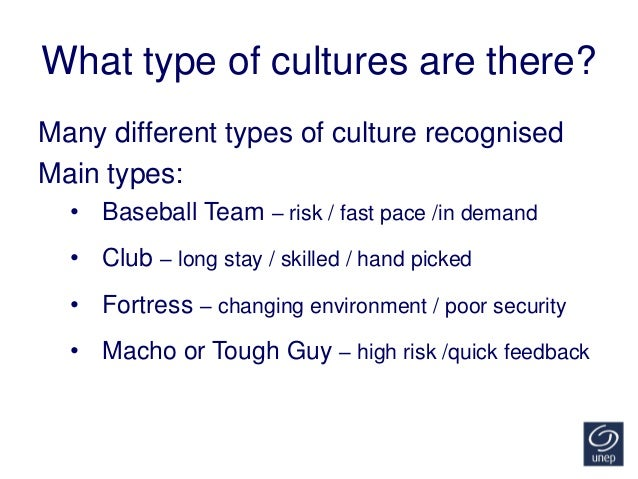 It's all about the culture