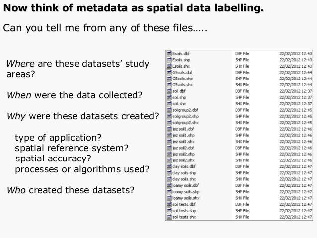 Where are these datasets' study areas? When were the data collected? Why were these datasets created? type of application?...