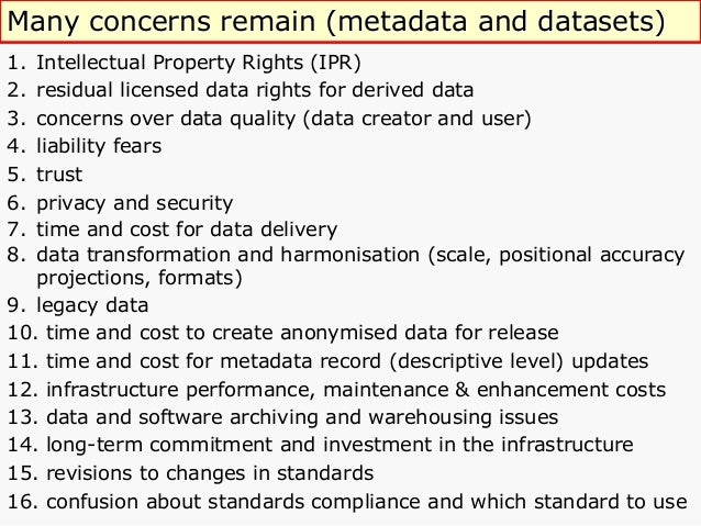 Metadata standards Ø Provide precise specifications to enforce and ensure consistency and interoperability. Ø Define a...
