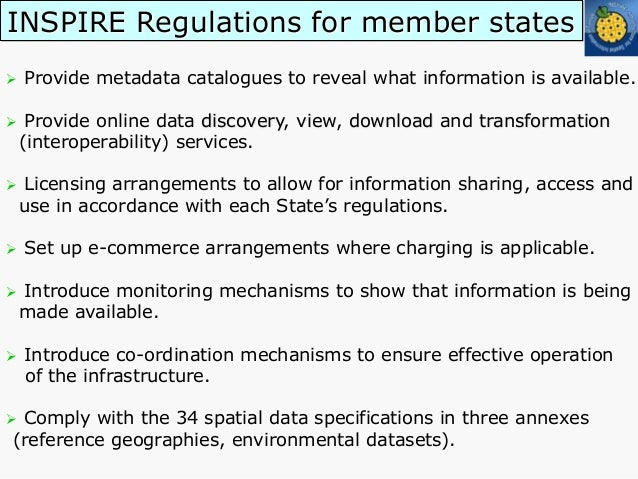 INSPIRE spatial data themes and deadlines for creating metadata