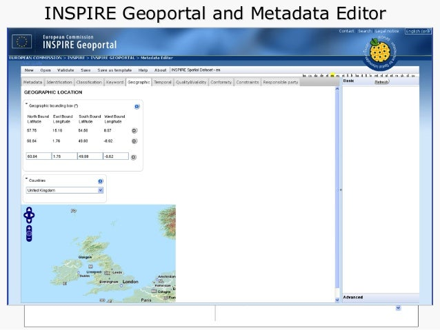 UK Location Metadata Catalogue and Editor