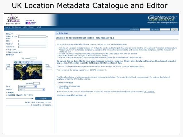MEDIN Data Discovery Portal and Metadata tools