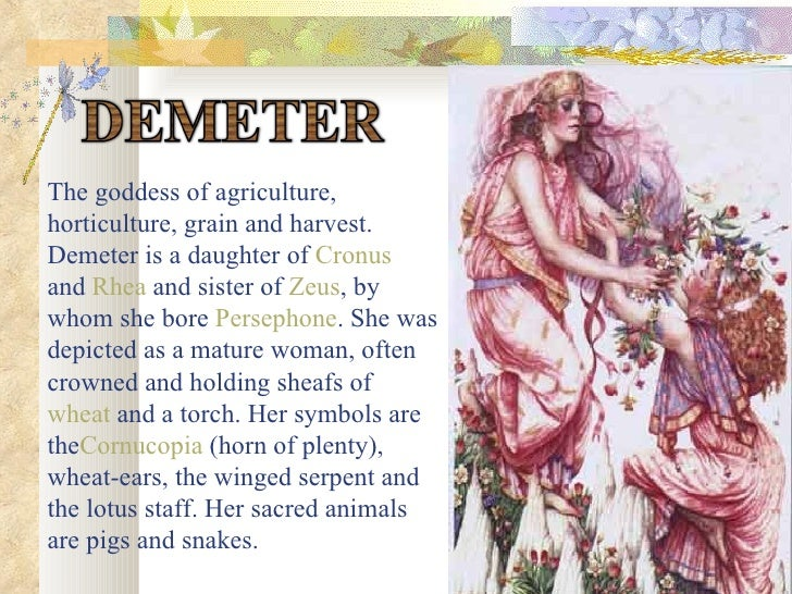 demeter goddess of agriculture