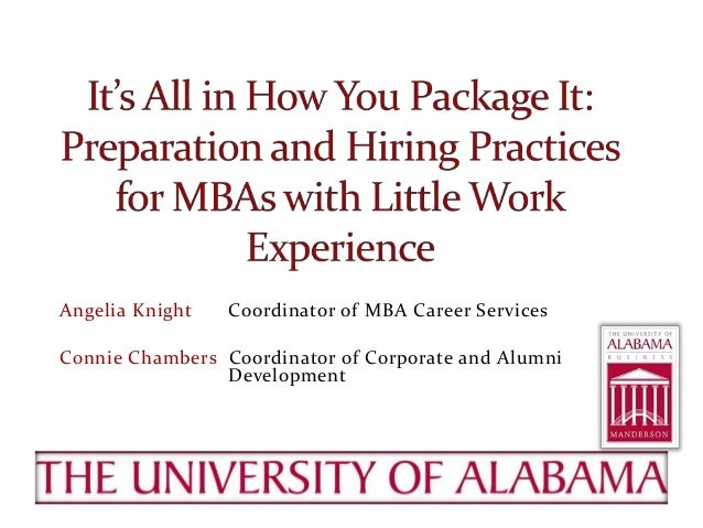 Angelia Knight Coordinator of MBA Career Services Connie Chambers Coordinator of Corporate and Alumni Development