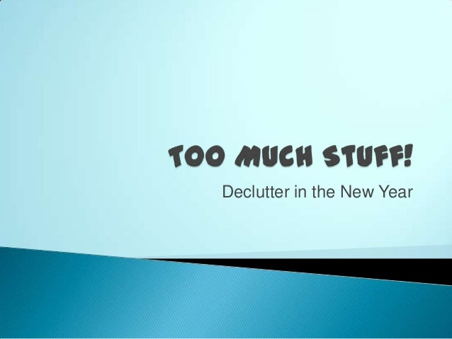Declutter in the New Year