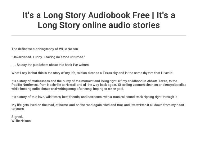 It's a Long Story Audiobook Free | It's a Long Story online