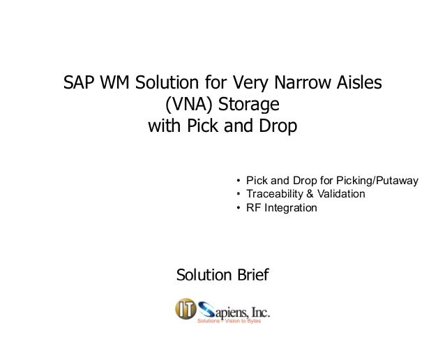 SAP Pick and Drop Solution