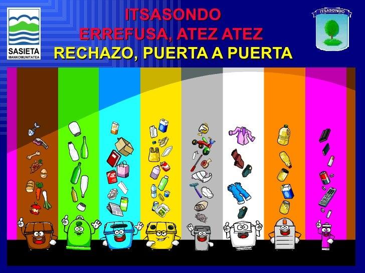 ITSASONDO  ERREFUSA, ATEZ ATEZRECHAZO, PUERTA A PUERTA