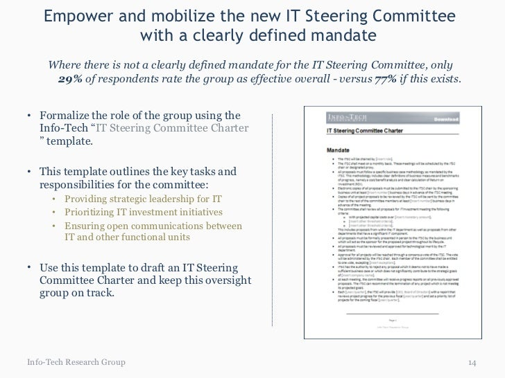 Establish An Effective It Steering Committee