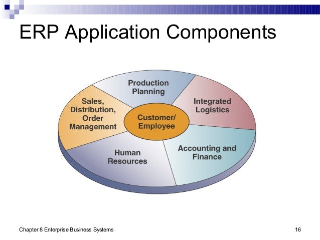 Chapter 8 Enterprise Business Systems 16 ERP Application Components