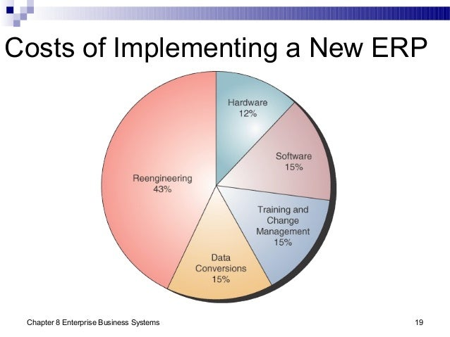 Chapter 8 Enterprise Business Systems 19 Costs of Implementing a New ERP