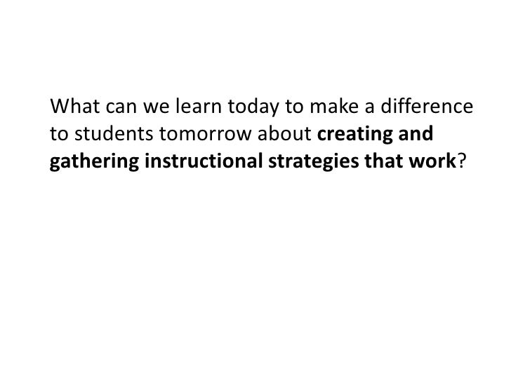 What can we learn today to make a difference to students tomorrow about engaging in inquiry based teaching and learning?<b...
