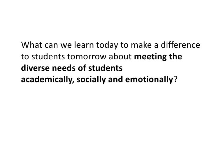 What can we learn today to make a difference to students tomorrow about bridging the gap between grades?<br />