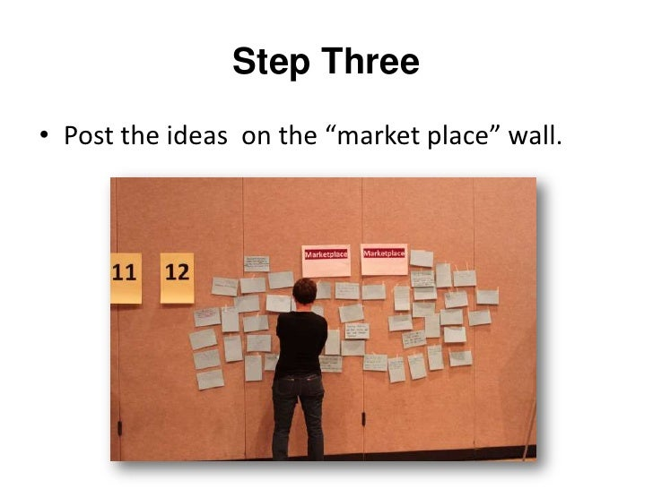 Step Four<br />Group similar ideas to create breakout groups.<br />