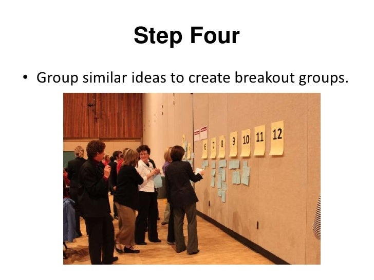 Step Five<br />Gather with the smaller group interested in the same topic.<br />
