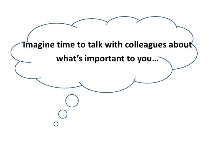 Imagine time to talk about <br />what's important to you…<br />