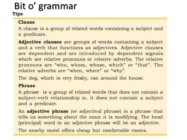 Bit o' grammar