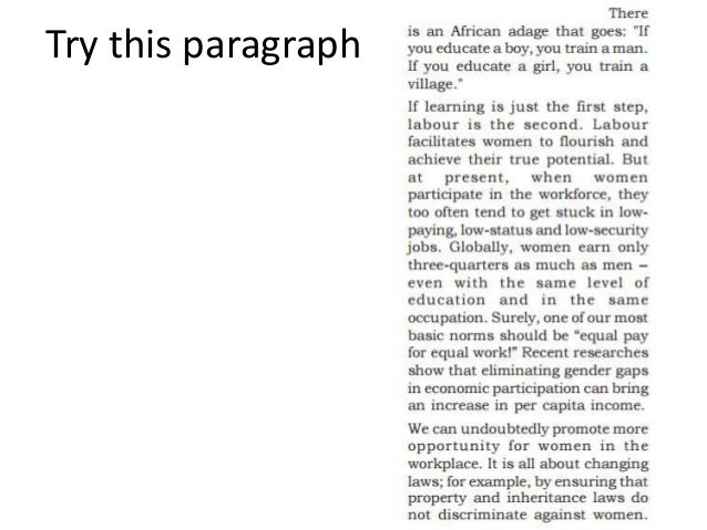 Try this paragraph