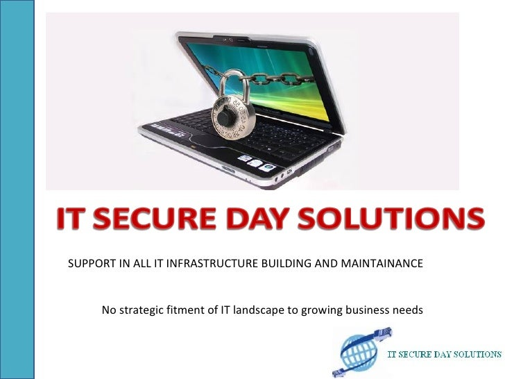 SUPPORT IN ALL IT INFRASTRUCTURE BUILDING AND MAINTAINANCE     No strategic fitment of IT landscape to growing business ne...