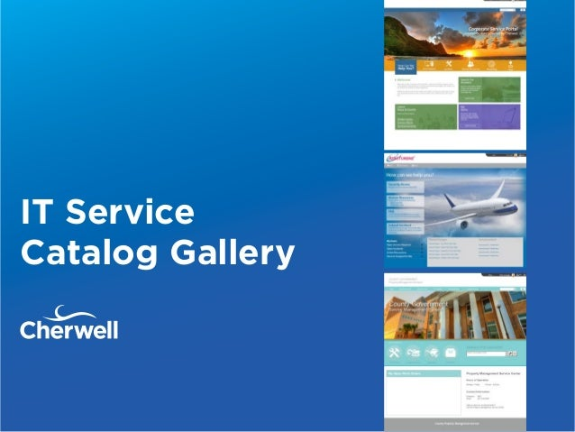 IT Service Catalog Gallery
