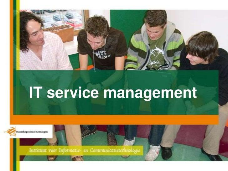 IT service management<br />