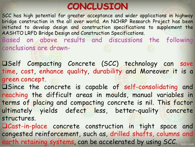 m.tech thesis on self compacting concrete The development of self compacting concrete (scc) by professor hajme okamura in 1986 has made a remarkable impact on  this thesis is divided into eight chapters.