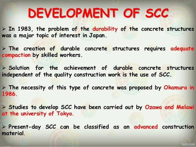 Self consolidating concrete ppt background