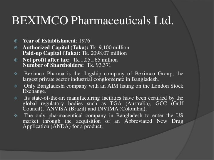 pharmaceutical industry analysis in bangladesh The strategic analysis on the pharmaceuticals industry of bangladesh gives the following results: strengths of the industry are as follows: • 5-7 leading companies are world class • products acceptable in the global market as 'quality products' • wide range.