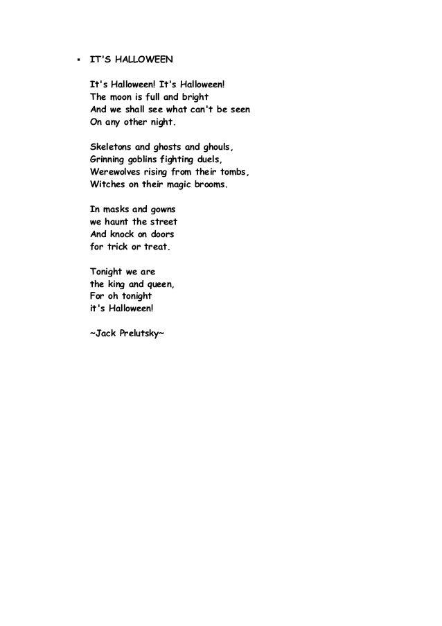 its halloween poem