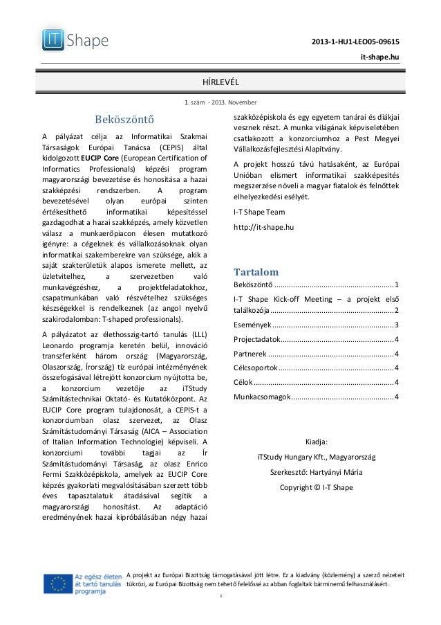 2013-‐1-‐HU1-‐LEO05-‐09615      it-‐shape.hu   HÍRLEVÉL   1.  szám    -‐  2013.  November ...