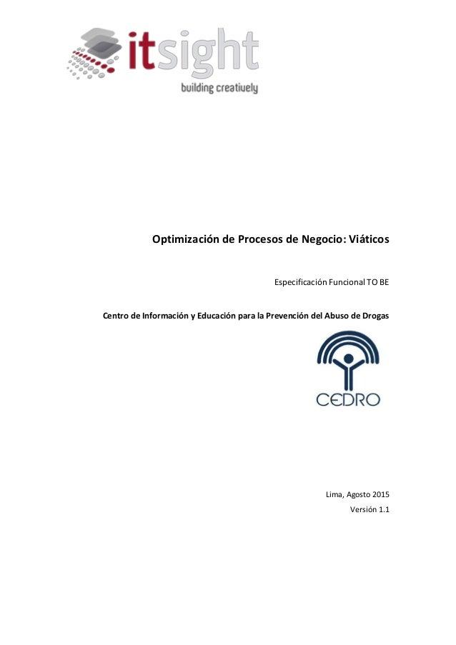 optimización procesos viaticos